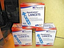 Phoenix, AquaLance Lancets New in Package 30G Ultra Thin Box of 100.