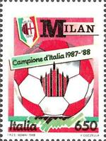 # ITALIA ITALY - 1988 - Milan Winner - Calcio Football Soccer Sport Stamp MNH