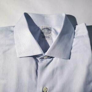 (E206) NWOT Brooks Brothers Egyptian Cotton BLUE French Cuffs SHIRT- 16.5 / 34