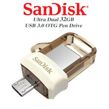 SanDisk Gold Ultra 32GB Dual Drive m3.0/USB3.0 for Android Devices and Computers