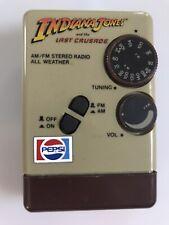 Indiana Jones Last Crusade 1989 Pepsi Promo Transistor Radio - Works!