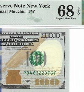 2017A $100 NEW YORK FRN, PMG SUPERB GEM UNCIRCULATED 68 EPQ BANKNOTE