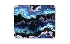 Dark Blue Waves Clouds Shades Mouse Mat Pad - Nature Art Gift Computer #14397