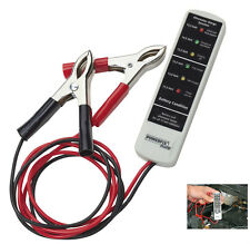 TESTER Batteria & luce macchine Tester batteria tester per tutte le batterie 12v NUOVO