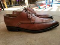 Santoni Brown Leather Cap Toe Oxford Dress Shoes Size: 10.5 D Made in Italy