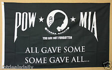 POW MIA flag 3x5 banner ALL GAVE SOME SOME GAVE ALL PATRIOTIC P.O.W. M.I.A.