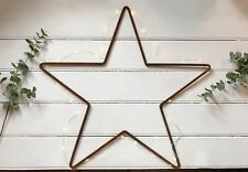 Large 80cm Rusty Metal Star Iron Wire Hanging Wall Mantle Xmas Garden Decoration