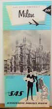 1963 Milan Italy vintage SAS City Portrait vintage travel brochure map b