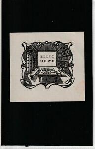 Au2. Ex Libris Armorial Bookplate. ELLIC HOWE