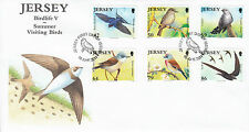 Jersey 2011 FDC Birdlife V Summer Visiting Birds 6v Set Cover Cuckoo Linnet