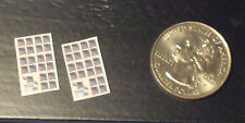 Dollhouse Miniature 2 sheets postage stamps 1:12 office desk H27 Dollys Gallery