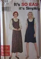 UNCUT Vintage Simplicity Pattern 7285 EZ Jumper 10 12 14 16 18 20 FF OOP SEWING