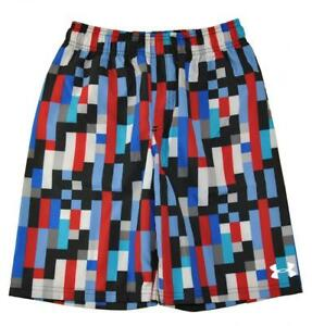 Under Armour Big Boys Red & Multi Color Printed Swim Short Size 10 (YMD)