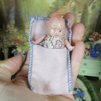 Antique 1910s- 20s CELLULOID BABY DOLL Kewpie Style Vtg Dollhouse Child 1920s