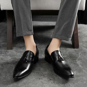 Mens Oxfords Formal Dress Shoes Brogue Pointed Toe Tassel Wingtip Business Work
