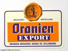 Germany 1960s Dillenburg Oranien Export Bier Beer Label Tavern Trove