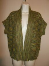 Jones NY Collection Petites Size PM Green Multi-Color Mohair Shrug