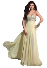 Tony Bowls Prom Dress Color Yellow Size 6 Brand New with tags