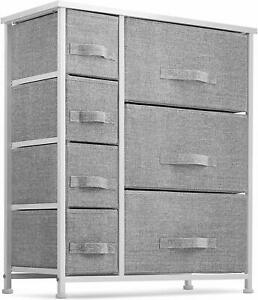 7 Drawers Dresser - Furniture Storage Tower Unit Gray/White