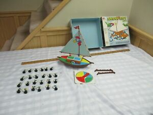 Vintage 1982  SMURF AHOY Game Milton Bradley -100% Complete in box , NICE shape