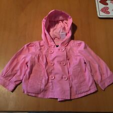 Girls Baby Gap Pink Button Up Jacket Size 6-12 Months B3