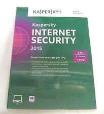 Kaspersky Lab Internet Security 2015 3u 1y ITA Kl1861tbcfs - Gar.italia