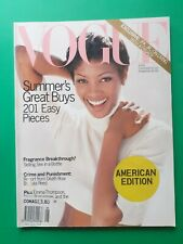 VOGUE USA June 1993 US Naomi Campbell Shalom Harlow Drew Barrymore Carla Bruni