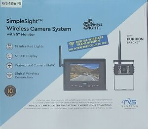 """Rear View Safety Wireless Backup Camera System 5"""" Monitor Instant Pair RVS-155W"""