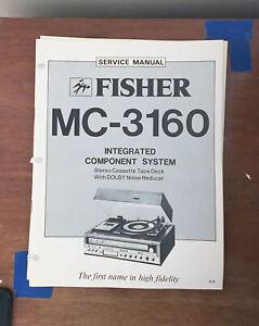 Fisher MC-3160 Stereo System Service Manual *Original*