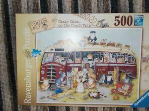 RAVENSBURGER CRAZY CATS 500 PIECE PUZZLE