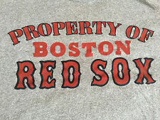 RARE Vintage 70s PROPERTY OF BOSTON RED SOX Baseball T-Shirt Small Gray MLB