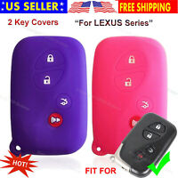 2Pcs New Black Silicone Protect Skin Smart 6 Buttons Remote Key Holder Fob Cover Bag for HYQ14ADR 2011-2017 Toyota Sienna