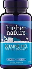 Higher Nature Betaine HCL 90 vegan caps Stomach Acid Supplement