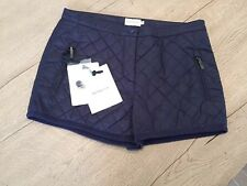 💯 Authentic Moncler Women's Quilted Dark Blue Winter Shorts Size 42 NWT $375