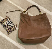 Ysl Roady Hobo 'It' Bag. Brown Leather With Gold Hardware. Leopard Print Inside.