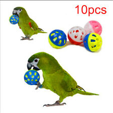 10 Pcs Hollow Rolling Bell Ball Pet Bird Toy For Parakeet Parrot Chew Cage Toys