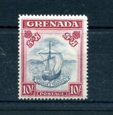 GRENADA 1938-50 10/- slate blue and carmine lake mint hinged. SG 163d. Cat £140