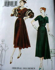 1950s VOGUE VINTAGE MODEL EVENING DRESS SEWING PATTERN 16-18-20-22-24 UNCUT