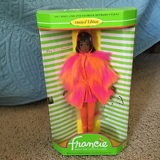 Barbie Doll Francie 1967 Reproduction Doll 1970 Fashion Limited Edition 1996