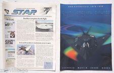 Vtg Nov 25, 1998 Lockheed Martin Skunk Works Star Magazine W/ 20th Ann. Poster