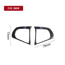 2pcs Carbon Fiber Inner Steering wheel trim M-Color Fits BMW 5 Series G30 2018