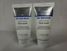 2 Pack Dove Derma Series Dry Skin Relief Face Wash 1.7 oz each 1923