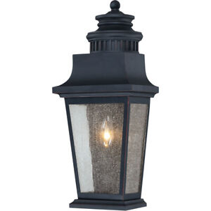 Savoy House 5-3552-25 One Light Pocket Wall Mount Outdoor Slate Barrister