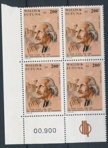 [21711] Wallis & Futuna 1986 Vianney good block of 4 stamps VF MNH