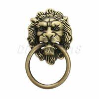 European Lion Head Furniture Dresser Cabinet Knob Ring Drawer Door Pull Handle