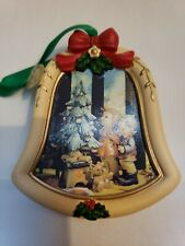 M.J. Hummel Wonder of Christmas Bell Shaped Ornament Resin Holiday Danbury Mint