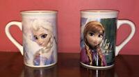 Pair Frozen Disney Movie Elsa Anna Olaf 10 Oz. Coffee Mug Tea Cup 2014