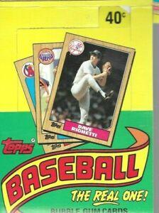 1987 Topps Box EMPTY Ron Cey Cecil Cooper Limited Edition Dave Righetti Top