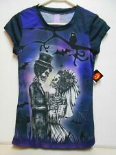 SIZE 2XL Women's Halloween T-Shirt NEW W/Tags Corpse Bride & Groom Pullover Top