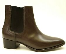 New Frye Melissa Chelsea Womens US 8.5 Dark Brown Leather Pull-On Boots Shoes